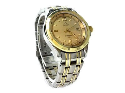 Lot 796-A LADY'S OMEGA SEAMASTER BI COLOUR WATCH
