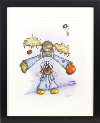 Lot 454-A PAIR OF WATERCOLOURS BY MICHELLE CAMPBELL