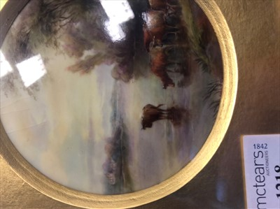 Lot 1218-A ROYAL WORCESTER CIRCULAR PLAQUE BY JOHN STINTON