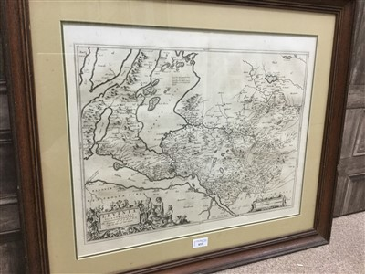 Lot 833-A FRAMED 17TH CENTURY MAP OF LEVINIA