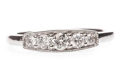Lot 87-A DIAMOND FIVE STONE RING