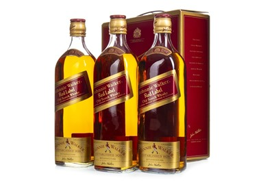 Lot 447-THREE BOTTLES OF JOHNNIE WALKER RED LABEL