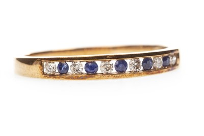 Lot 164-A BLUE GEM AND DIAMOND RING