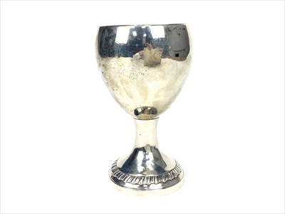 Lot 816-A GEORGE III IRISH SILVER GOBLET