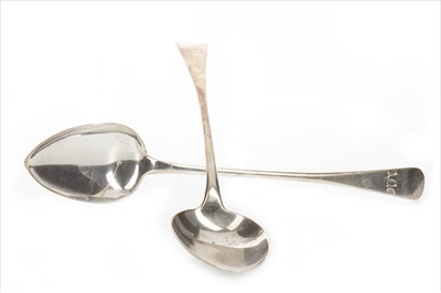 Lot 822-A PAIR OF GEORGE III SILVER BASTING SPOONS