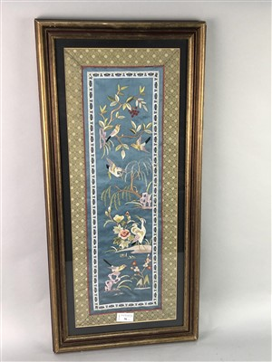 Lot 36-A GROUP OF FOUR CHINESE EMBROIDERIES