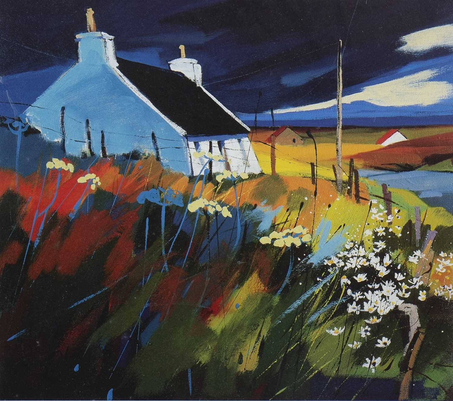 Lot 568-NORTH THROUGH GEARY, A SIGNED LIMITED EDITION PRINT BY PAM CARTER