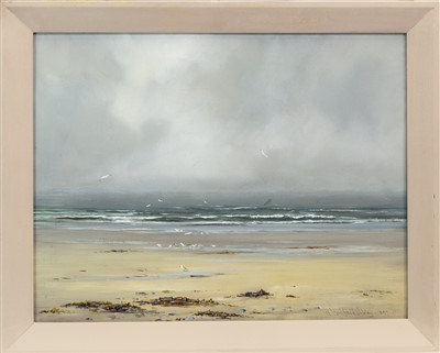 Lot 514-A GREY MORNING, AN OIL BY HENRY HADFIELD CUBLEY