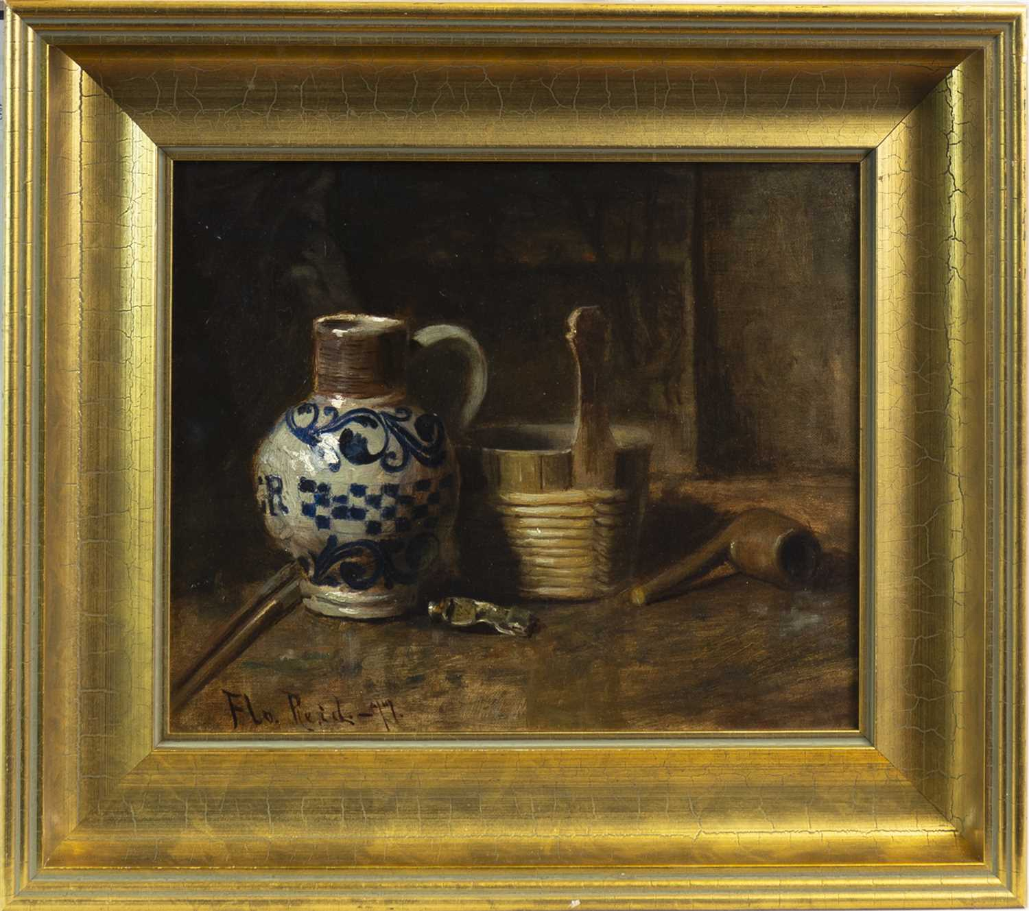 Lot 517-STILL LIFE, AN OIL BY FLORA MACDONALD REID