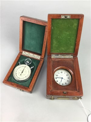 Lot 11-A RUSSIAN TRAVELLING TIME PIECE AND A STOP WATCH
