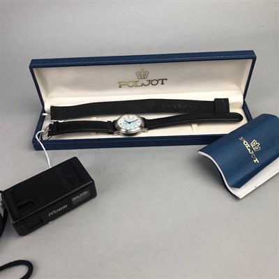 Lot 12-A GENTLEMAN'S POLJOT WRIST WATCH AND OTHER ITEMS
