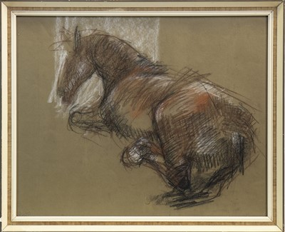 Lot 522-SKETCH OF A HORSE, A PASTEL BY SOFIA BASSI