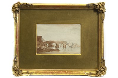 Lot 528-PONTE ROTTO, ROME, A WATERCOLOUR BY WILLIAM MARLOW