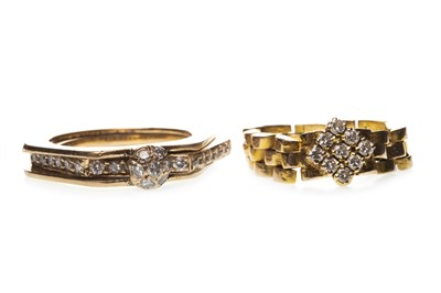 Lot 12-TWO DIAMOND SET RINGS