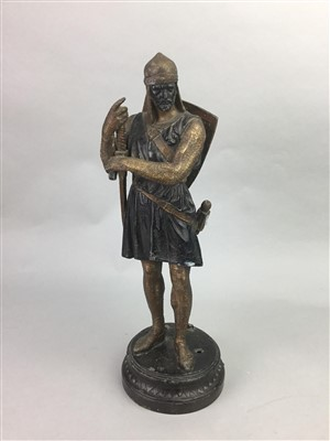 Lot 23-A CAST METAL SCULPTURE OF ROBERT THE BRUCE