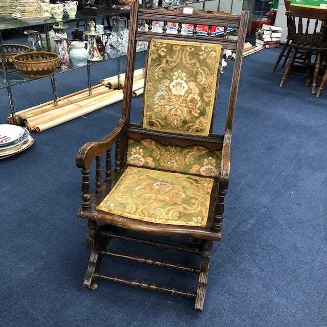 Lot 24-A VICTORIAN ROCKING CHAIR