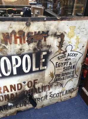 Lot 25-A MID 20TH CENTURY WHISKY ADVERTISEMENT SIGN