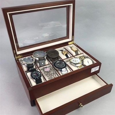 Lot 35-A LOT OF NINE WRIST WATCHES AND TWO OTHERS