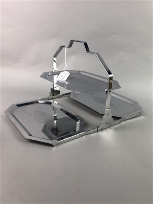Lot 31-AN ART DECO CAKE STAND AND OTHER METALWORK
