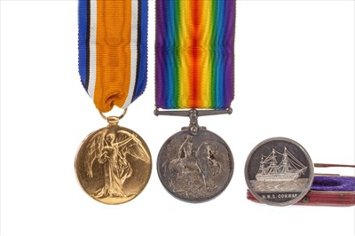 Lot 1713-A BOXING MEDAL AND TWO MILITARY CAMPAIGN MEDALS