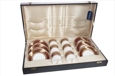 Lot 1220-A CASED ROYAL DOULTON 'BUCKINGHAM' PATTERN COFFEE SERVICE