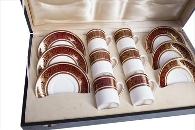 Lot 1220-A CASED ROYAL DOULTON 'BUCKINGHAM' PATTERN COFFEE SERVICE