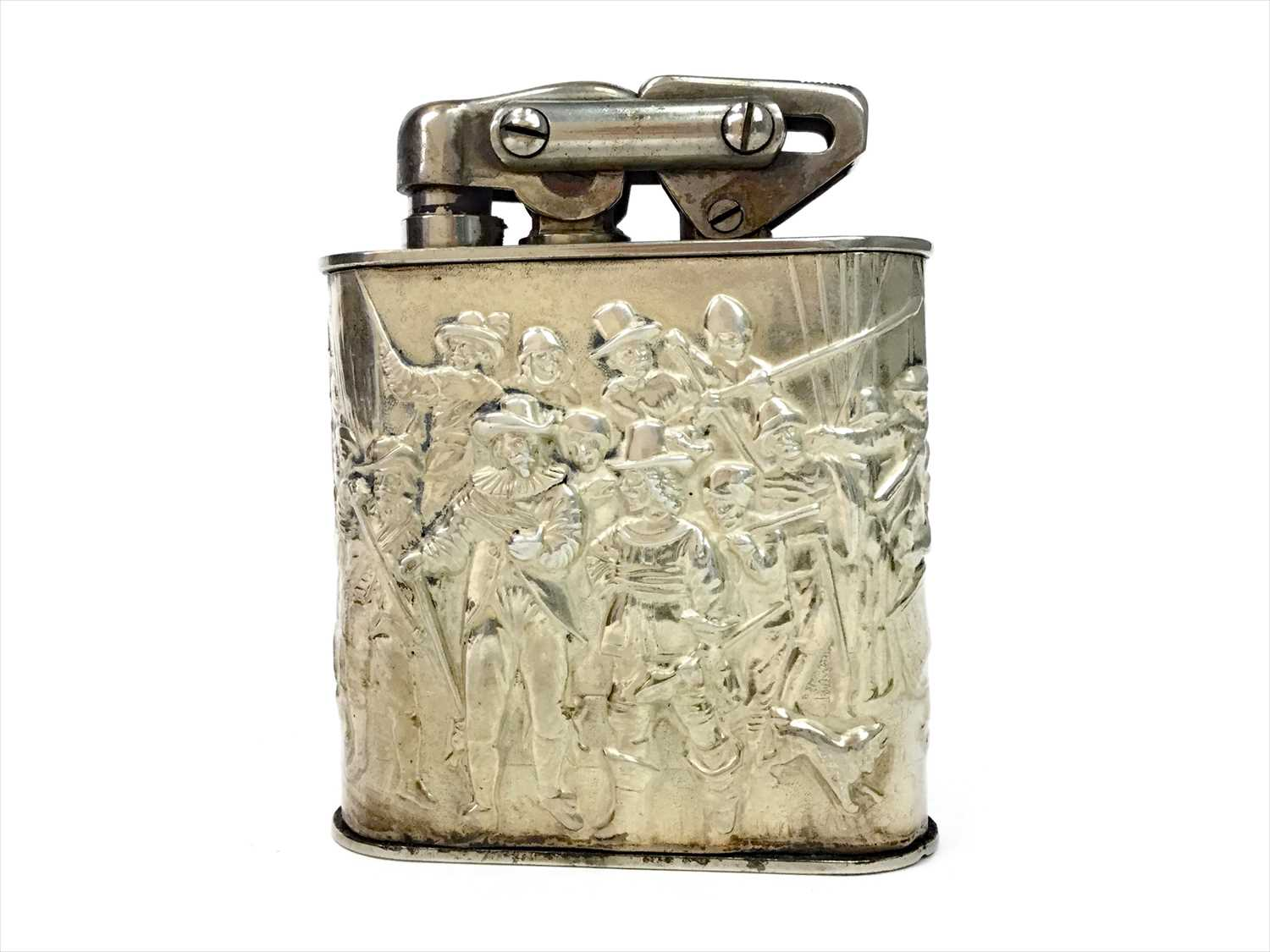 Lot 812-A DUTCH SILVER MOUNTED TABLE LIGHTER