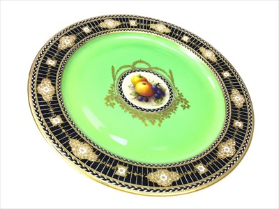 Lot 1226-A VICTORIAN ROYAL WORCESTER CABINET PLATE BY R. SEBRIGHT