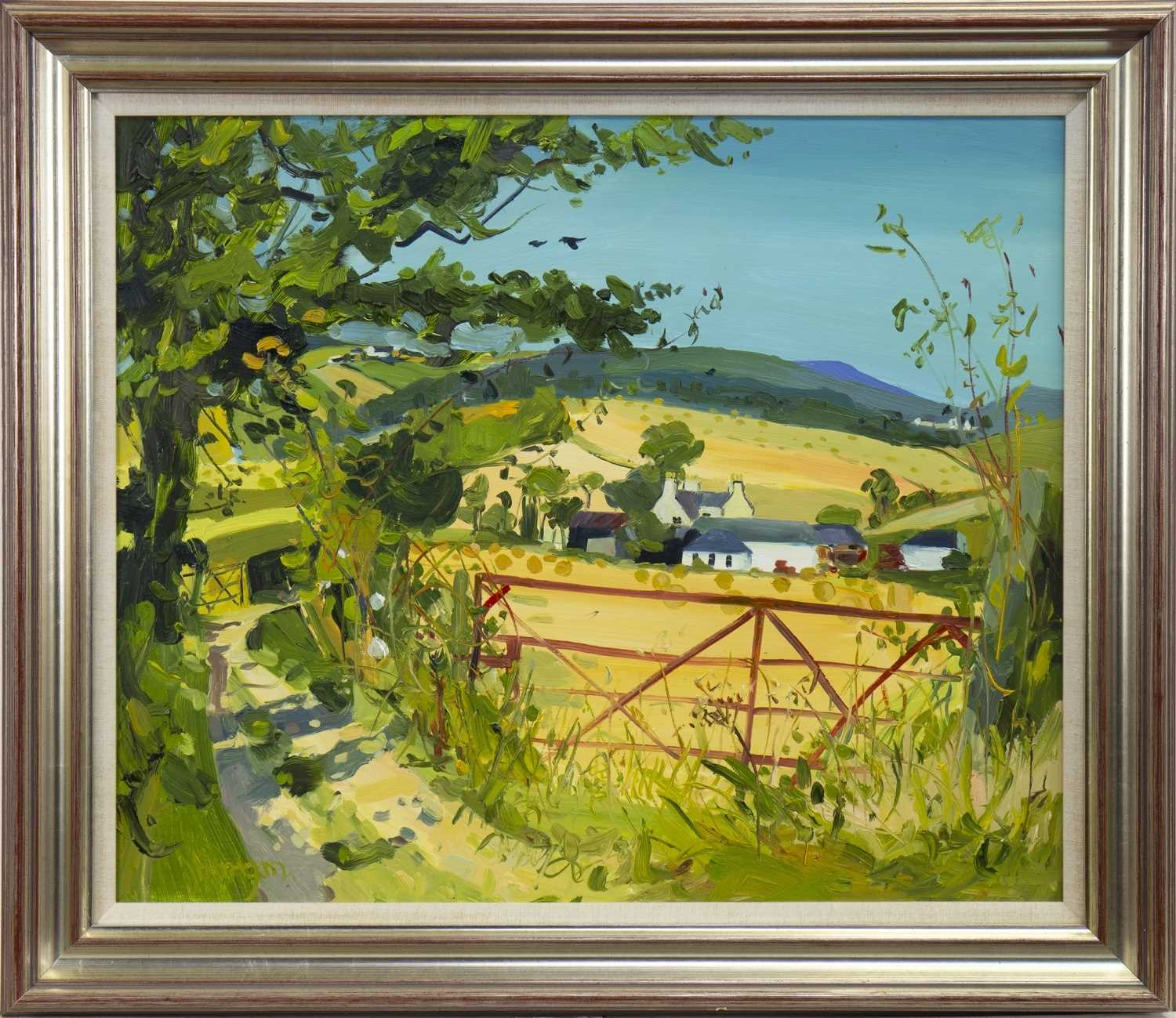 Lot 19-PATH TO HAWKHILL, GIRVAN, AN OIL BY JAMES HARRIGAN