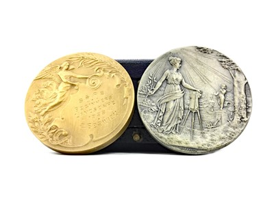 Lot 858-A LOT OF TWO MEDALS AWARDED TO C. BERWICK FOR LANDSCAPING