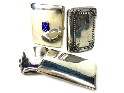 Lot 825-A LOT OF FOUR SILVER CIGARETTE CASES
