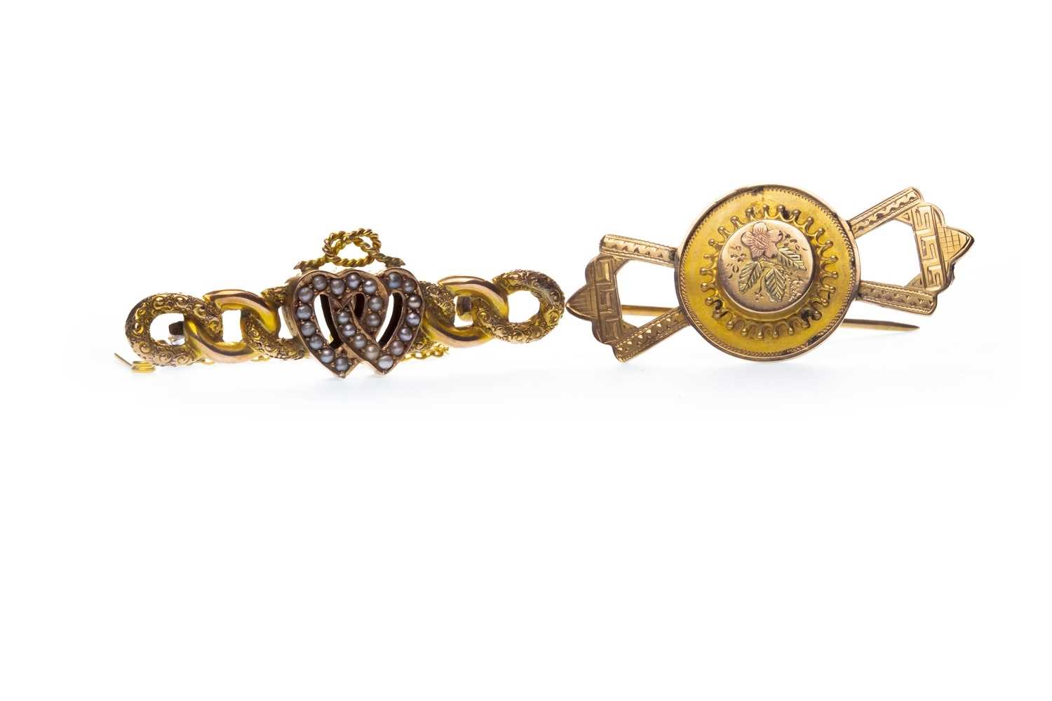 Lot 27-TWO VICTORIAN BROOCHES