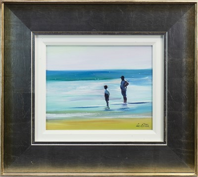 Lot 566-PADDLING IN JUNE, AN OIL BY PAM CARTER