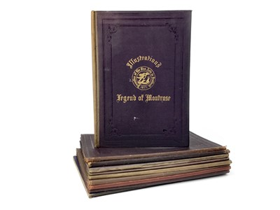 Lot 861-A SET OF TEN ROYAL ASSOCIATION FOR PROMOTION OF THE FINE ARTS SOCIETY IN SCOTLAND ILLUSTRATION BOOKS