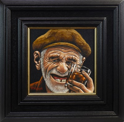 Lot 791-PARTY ANIMAL, AN OIL BY GRAHAM MCKEAN
