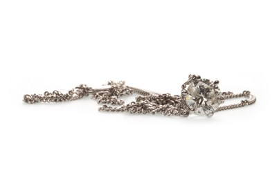Lot 39-A DIAMOND SINGLE STONE PENDANT