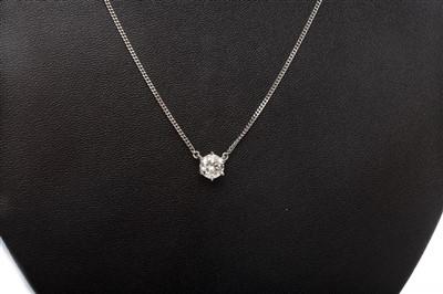 Lot 39-A DIAMOND SINGLE STONE PENDANT
