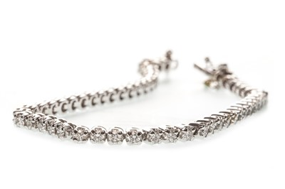 Lot 48-A DIAMOND TENNIS BRACELET