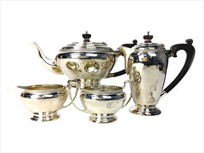 Lot 834-A SILVER FOUR PIECE TEA AND COFFEE SERVICE