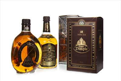Lot 1403-DIMPLE 15 YEARS OLD AND CHIVAS REGAL 12 YEARS OLD