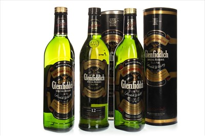 Lot 1310-THREE BOTTLES OF GLENFIDDICH SPECIAL RESERVE