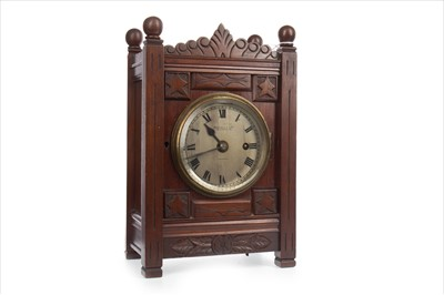 Lot 1114-A VICTORIAN MANTEL CLOCK BY RUSSELLS OF LIVERPOOL