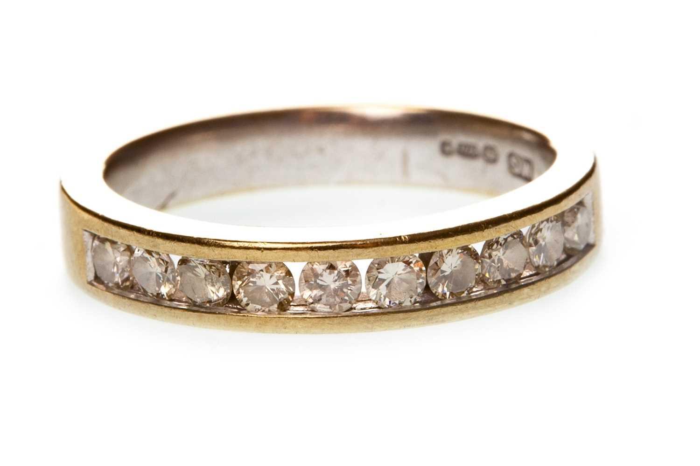Lot 52-A DIAMOND HALF ETERNITY RING
