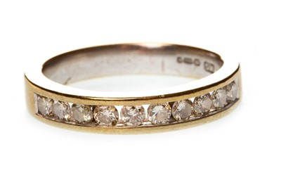 Lot 52-A DIAMOND HALF ETERNITY RING