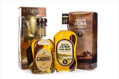 Lot 1311-CARDHU 12 YEARS OLD AND ISLE OF JURA 8 YEARS OLD