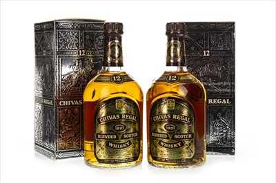 Lot 1408-TWO BOTTLES OF CHIVAS REGAL 12 YEARS OLD