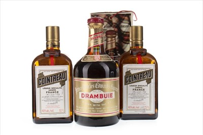 Lot 2015-TWO BOTTLES OF COINTREAU AND ONE DRAMBUIE