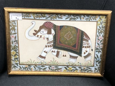 Lot 8-A 19TH CENTURY INDIAN PAINTING OF AN ELEPHANT
