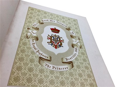 Lot 892-A BIRTHDAY BOOK DESIGNED BY H.R.H. THE PRINCESS BEATRICE 1881