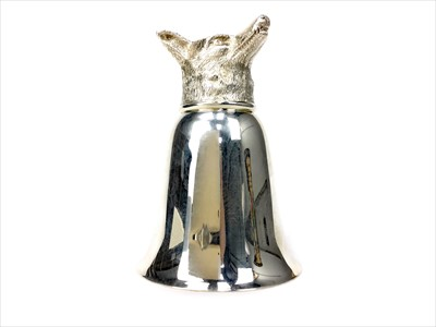 Lot 835-A CONTEMPORARY SILVER PLATED STIRRUP CUP